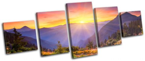 Sunset Mountains Landscapes - 13-0273(00B)-MP07-LO